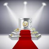 Représentation réaliste d'argent Image stock