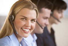 Reps felizes do serviço de atenção a o cliente Imagem de Stock Royalty Free