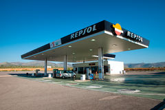 Repsol Gas Station Stock Image