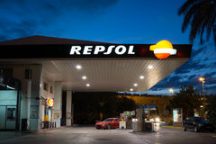 Repsol Gas Station royalty free stock photos