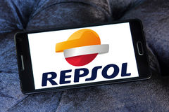 Repsol oil and energy company logo Royalty Free Stock Photography