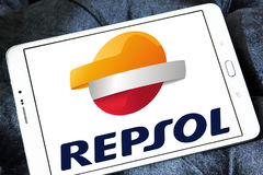 Repsol oil and energy company logo Stock Image