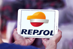 Repsol oil and energy company logo Royalty Free Stock Image