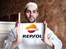 Repsol oil and energy company logo Stock Photography