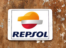 Repsol oil and energy company logo Royalty Free Stock Images