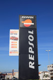REPSOL-Petrolstation Royaltyfria Foton