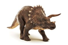 Reptiel van de Triceratops het Juradinosaurus op een witte achtergrond stock illustratie