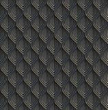 Reptil- eller fiskvåg Svart lamellar pansar med blåa och bleka ilskna blickar seamless vektor för modell vektor illustrationer