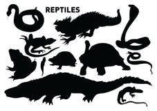 reptilar royaltyfri illustrationer