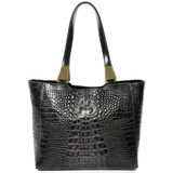Reptile Embossed Leather Bag. Stock Image