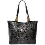 Reptile Embossed Leather Bag. Bag embossed leather reptile. Elegant, modern woman's handbag photographed in the studio Stock Image