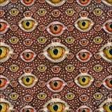 Reptile Eyes Collage Seamless Patern Royalty Free Stock Image