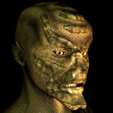 Reptile man. 3d rendering of a human mutation in the portrait as an illustration Stock Images