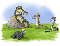 Reptile meeting Royalty Free Stock Images