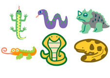 Reptile set. Reptile 6 set by illustration Vector Illustration
