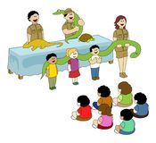 Reptile Show. For children in a park Stock Illustration