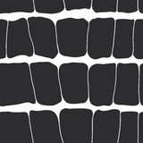 Reptile skin seamless pattern black spots on a white background. Royalty Free Stock Images