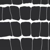 Reptile skin seamless pattern black spots on a white background. stock illustration