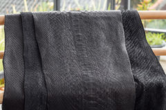 Reptile snake texture closeup, fashion zigzag snakeskin python picture. royalty free stock photos
