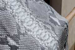 Reptile snake texture closeup, fashion zigzag snakeskin python picture. Royalty Free Stock Photography