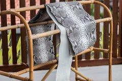 Reptile snake texture closeup, fashion zigzag snakeskin python picture. royalty free stock photo
