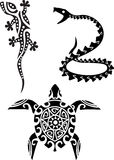 Reptile tribal tattoo Stock Photo