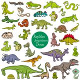 Reptiles and amphibians characters set Royalty Free Stock Image