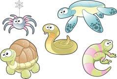 Reptiles et famille d'araignée Image libre de droits