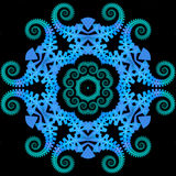 Reptilian mandala royalty free stock photography