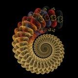 Reptilian spiral Royalty Free Stock Photo