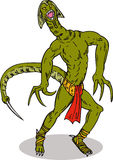 Reptilian super villain Stock Images