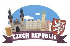 Repubblica ceca con il fuoco sul binocolo Fotografia Stock Libera da Diritti