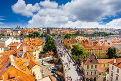Repubblica ceca di Praga del ponticello del Charles Immagine Stock Libera da Diritti