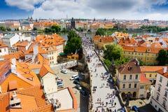 Repubblica ceca di Praga del ponticello del Charles Fotografia Stock