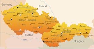 Repubblica ceca e la Slovacchia Fotografia Stock