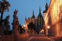 Repubblica ceca, Kutna Hora - Unesco Fotografia Stock Libera da Diritti