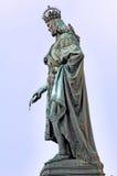 Repubblica ceca, Praga: statue del ponticello Immagini Stock