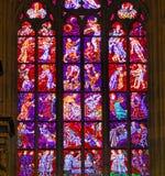 Repubblica ceca, Praga: vetro macchiato Fotografie Stock Libere da Diritti