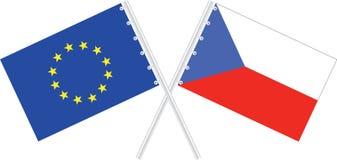 Repubblica ceca/Ue Immagini Stock Libere da Diritti