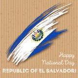 Repubblica del EL Salvador Independence Day Immagine Stock Libera da Diritti