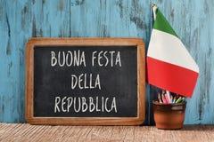 Repubblica della festa Buonna, ευτυχής ημέρα δημοκρατιών στα ιταλικά Στοκ φωτογραφία με δικαίωμα ελεύθερης χρήσης