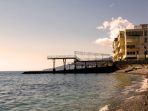 Repubblica di Crimea, Jalta, PGT Nikita, mare, spiaggia Fotografia Stock