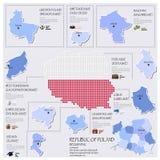 Repubblica di Dot And Flag Map Of di progettazione della Polonia Infographic Fotografia Stock Libera da Diritti