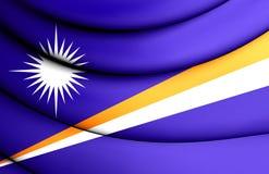 Repubblica di Marshall Islands Flag Fotografie Stock Libere da Diritti