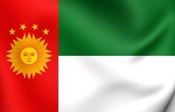 Repubblica di Peru Flag del sud 1836-1839 Immagine Stock