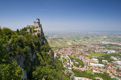 Repubblica di San Marino - First Tower Guaita Hori Stock Photos
