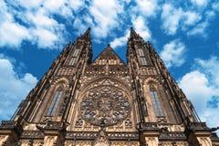 Repubblica di Vitus Cathedral Prague Castle Czech del san Immagine Stock Libera da Diritti