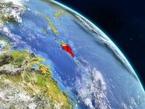 Repubblica dominicana da spazio illustrazione di stock