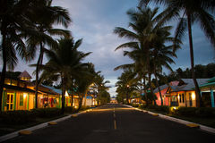 Repubblica dominicana di notte Fotografia Stock