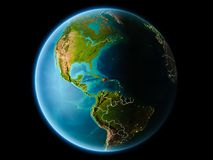 Repubblica dominicana nella sera Fotografia Stock Libera da Diritti